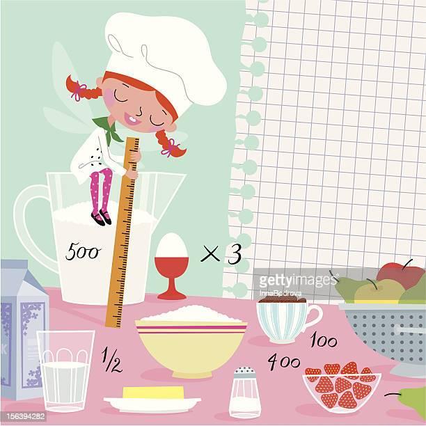 kitchen fairy. - shopping list stock illustrations, clip art, cartoons, & icons