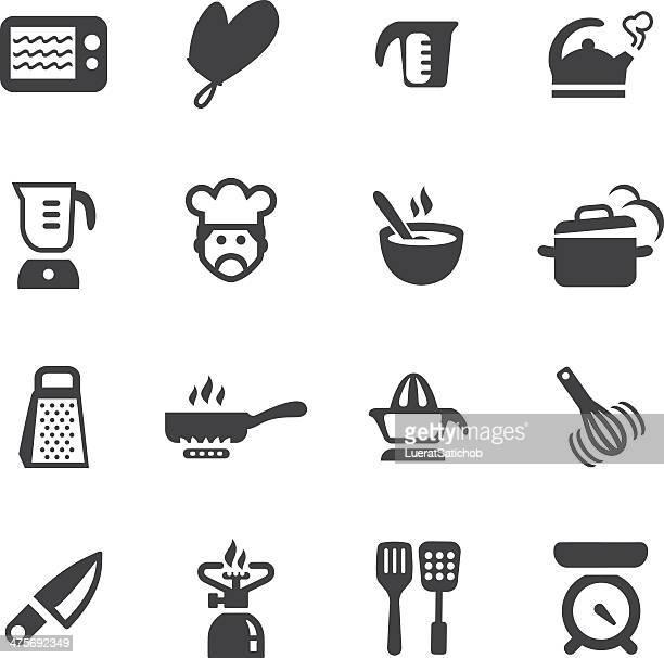 Kitchen Fun Silhouette icons 1