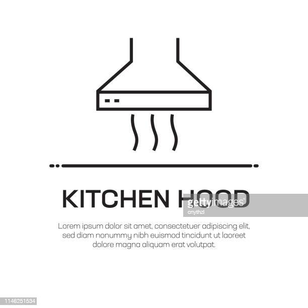 kitchen hood vector line icon - simple thin line icon, premium quality design element - hood clothing stock illustrations