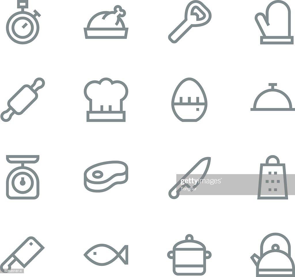 Kitchen icons - line