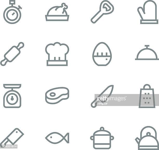 Kitchen icons - line