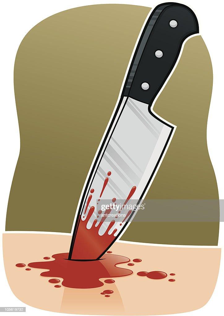 Kitchen Knife Stab Blood Wound