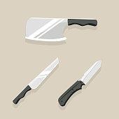 kitchen knives Vector