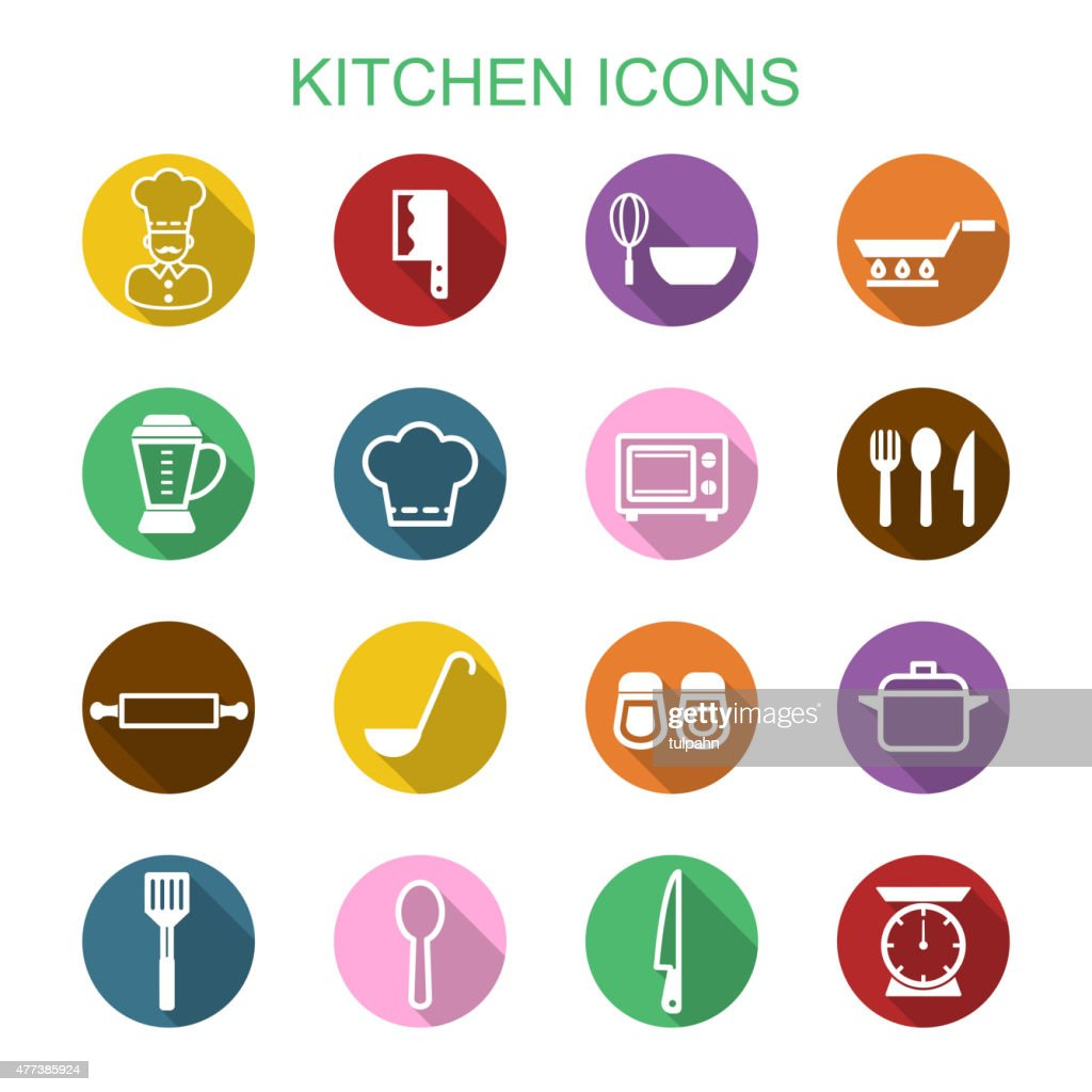 kitchen long shadow icons