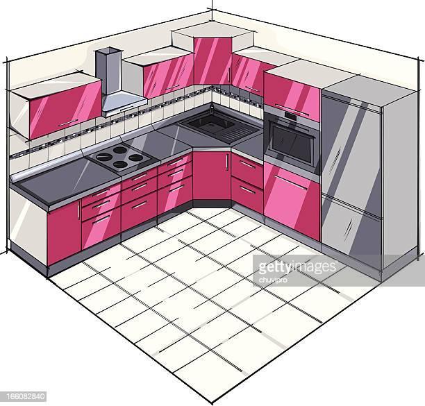 ilustrações, clipart, desenhos animados e ícones de cozinha moderna. - exhaust fan