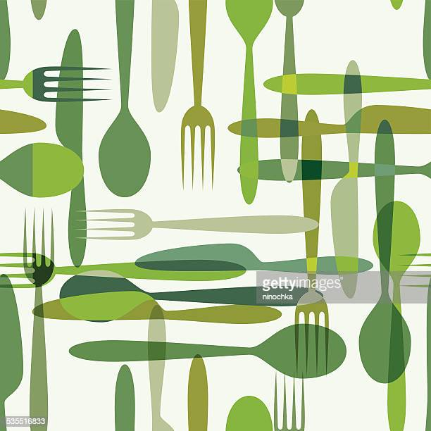 kitchen pattern - menu background stock illustrations