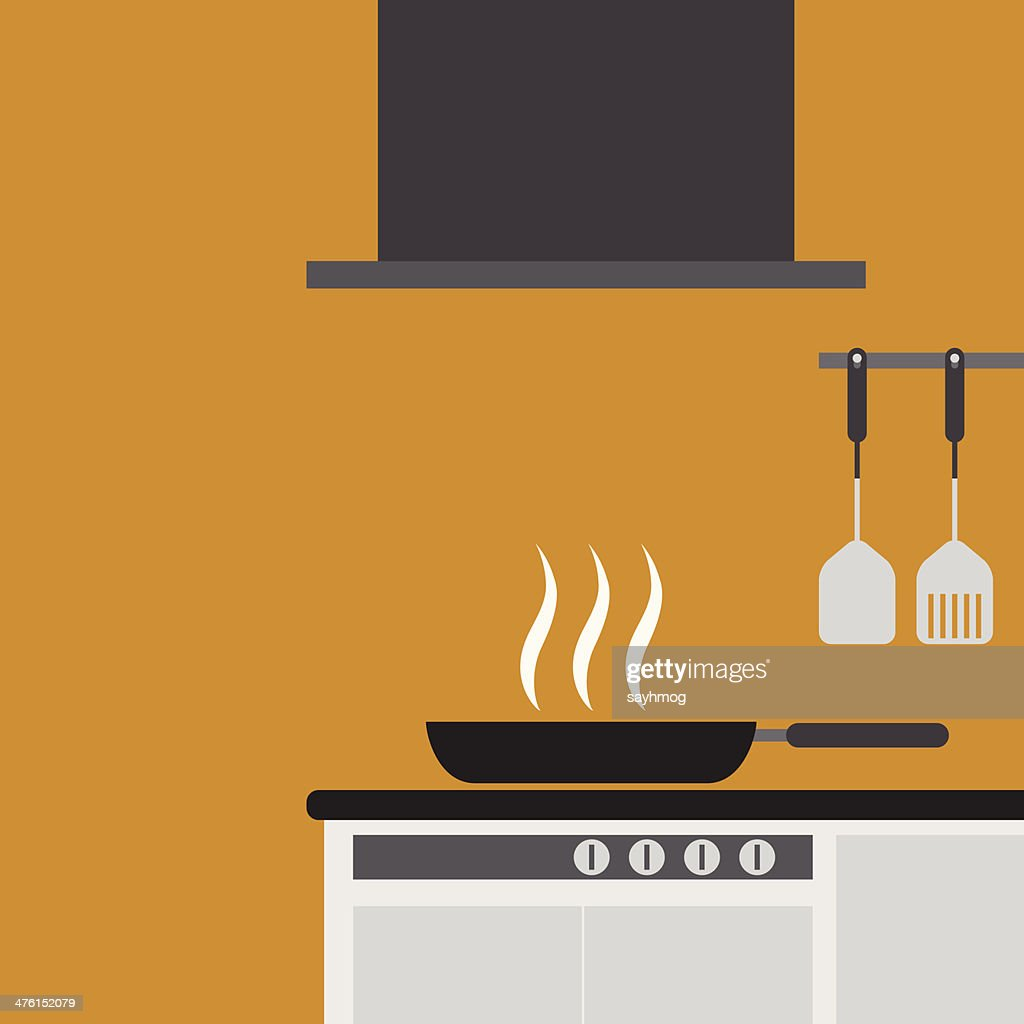 kitchen room decorated of vector design
