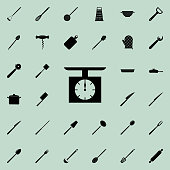 kitchen scale icon. Detailed set of kitchen tools icons. Premium quality graphic design sign. One of the collection icons for websites, web design, mobile app