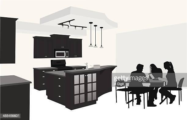 Kitchen Study Vector Silhouette