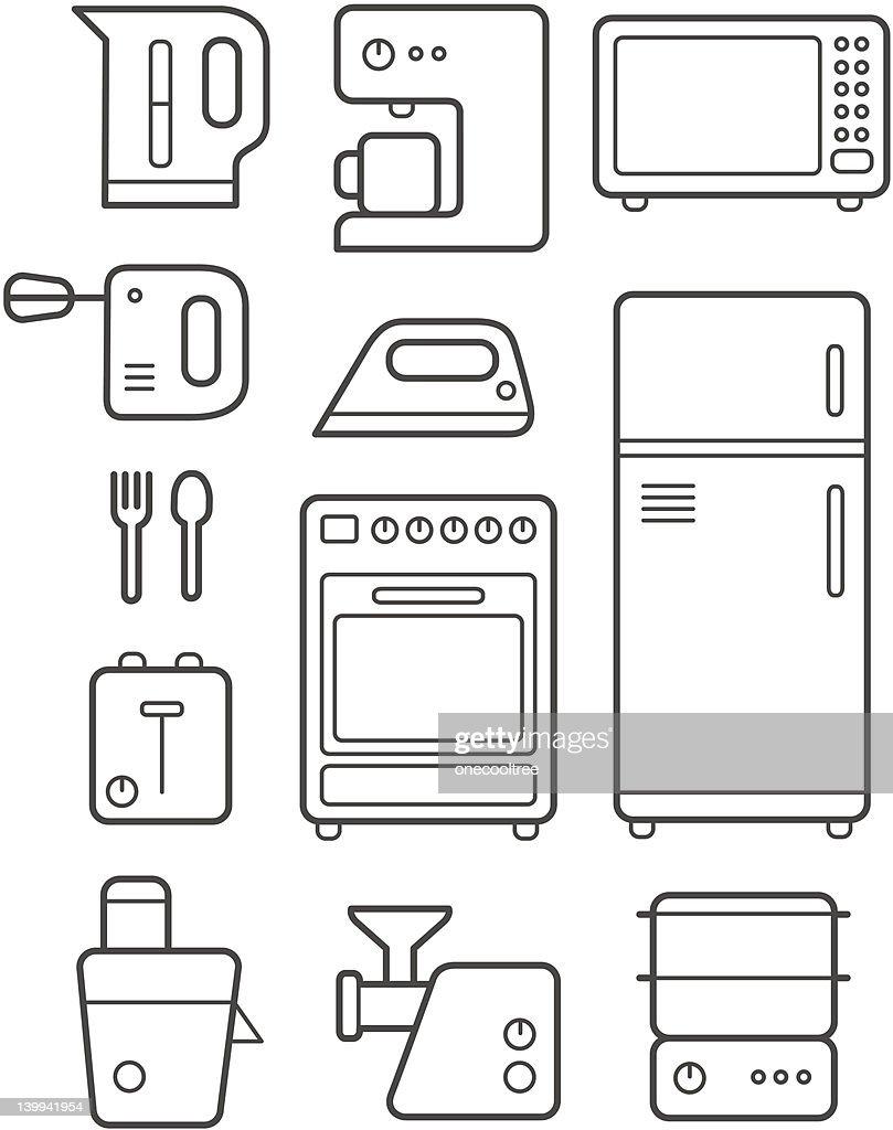 Kitchen Technics Icons Set