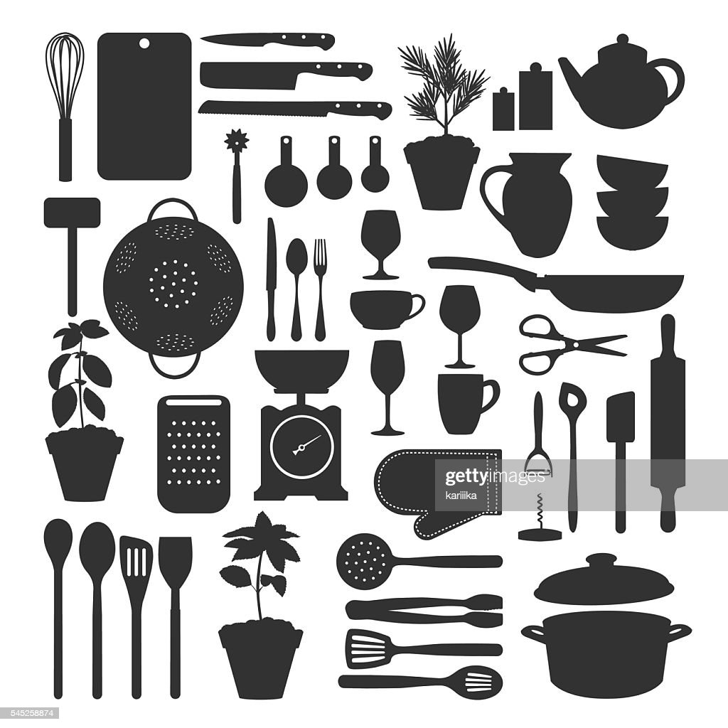 Kitchen tool set isolated