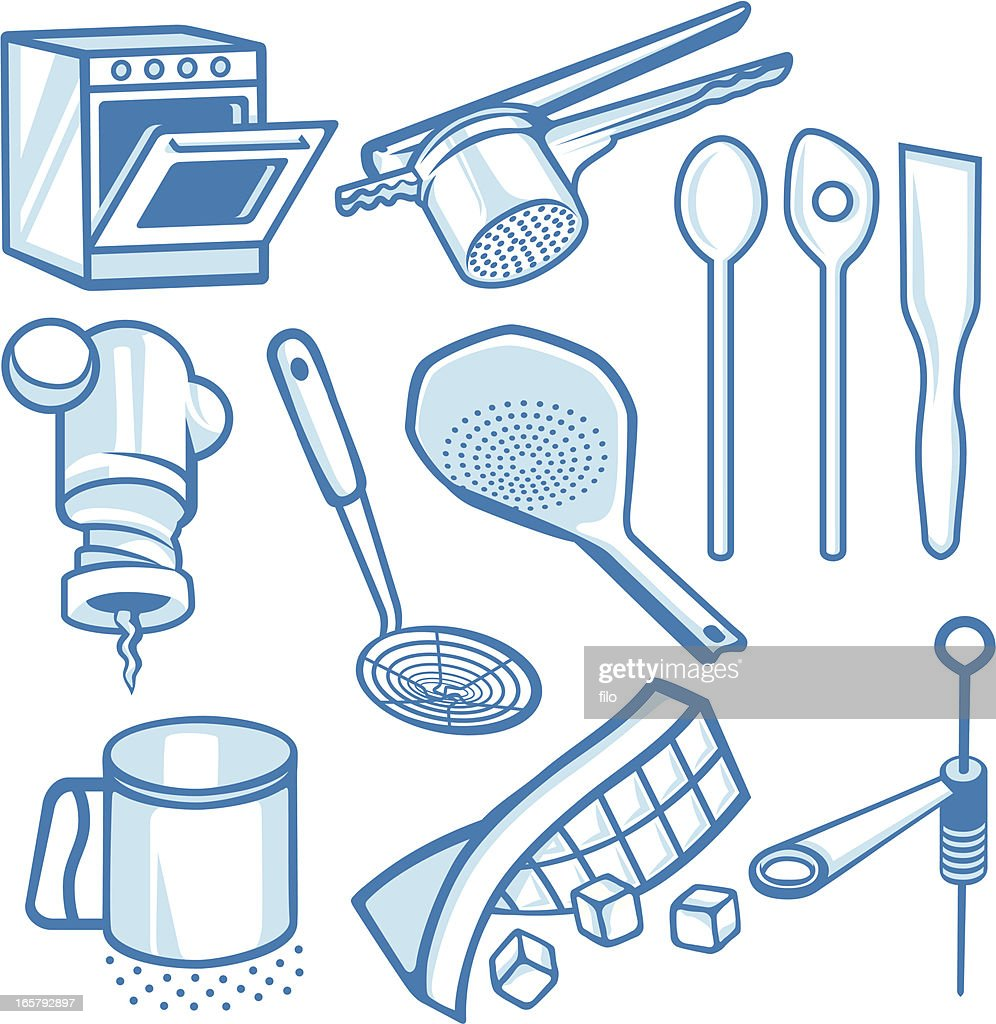 Kitchen Tools Vector Art   Getty Images