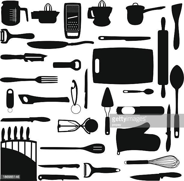 kitchen tools - cooking utensil stock illustrations, clip art, cartoons, & icons