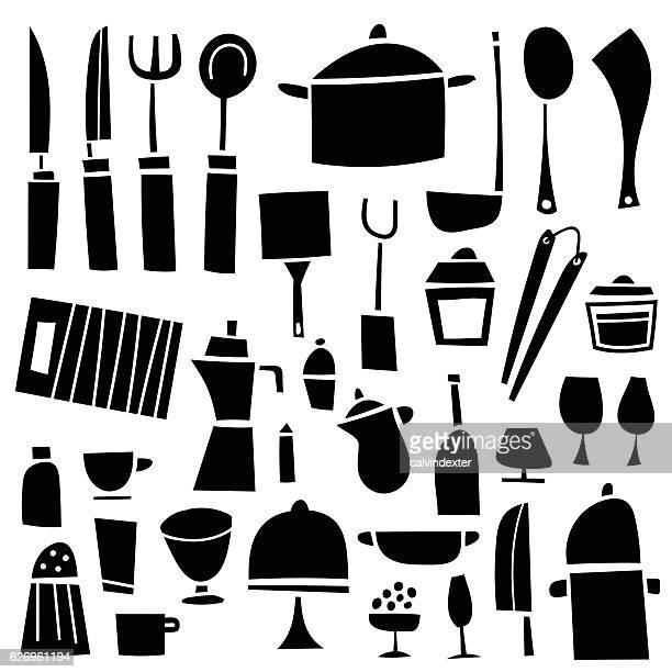 bildbanksillustrationer, clip art samt tecknat material och ikoner med kitchen tools - peppar