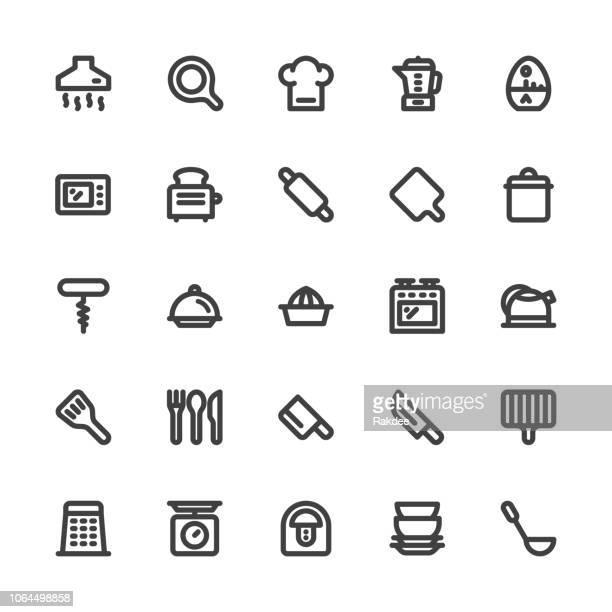 Kitchen Utensil Icons - Bold Line Series