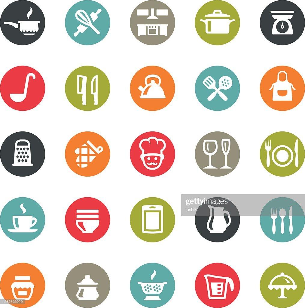 Kitchen Utensil icons / Ringico series