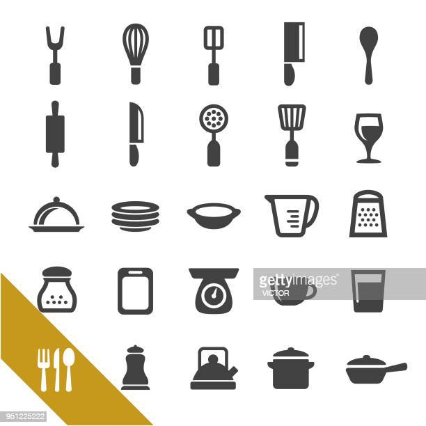 kitchen utensil icons - select series - egg beater stock illustrations, clip art, cartoons, & icons