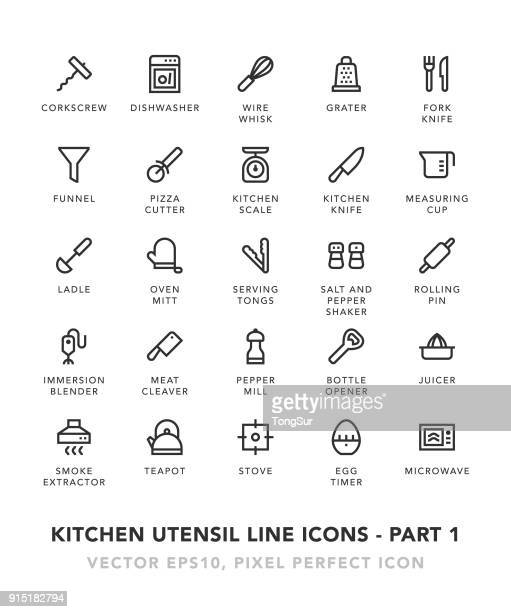 Kitchen Utensil Line Icons - Part 1