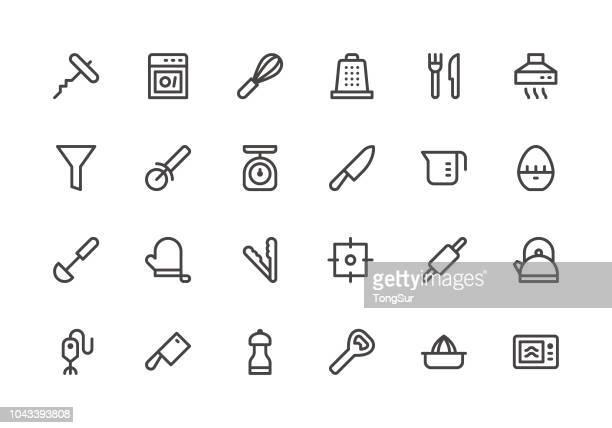 Küche-Utensil - Teil 1 - Linie Symbole