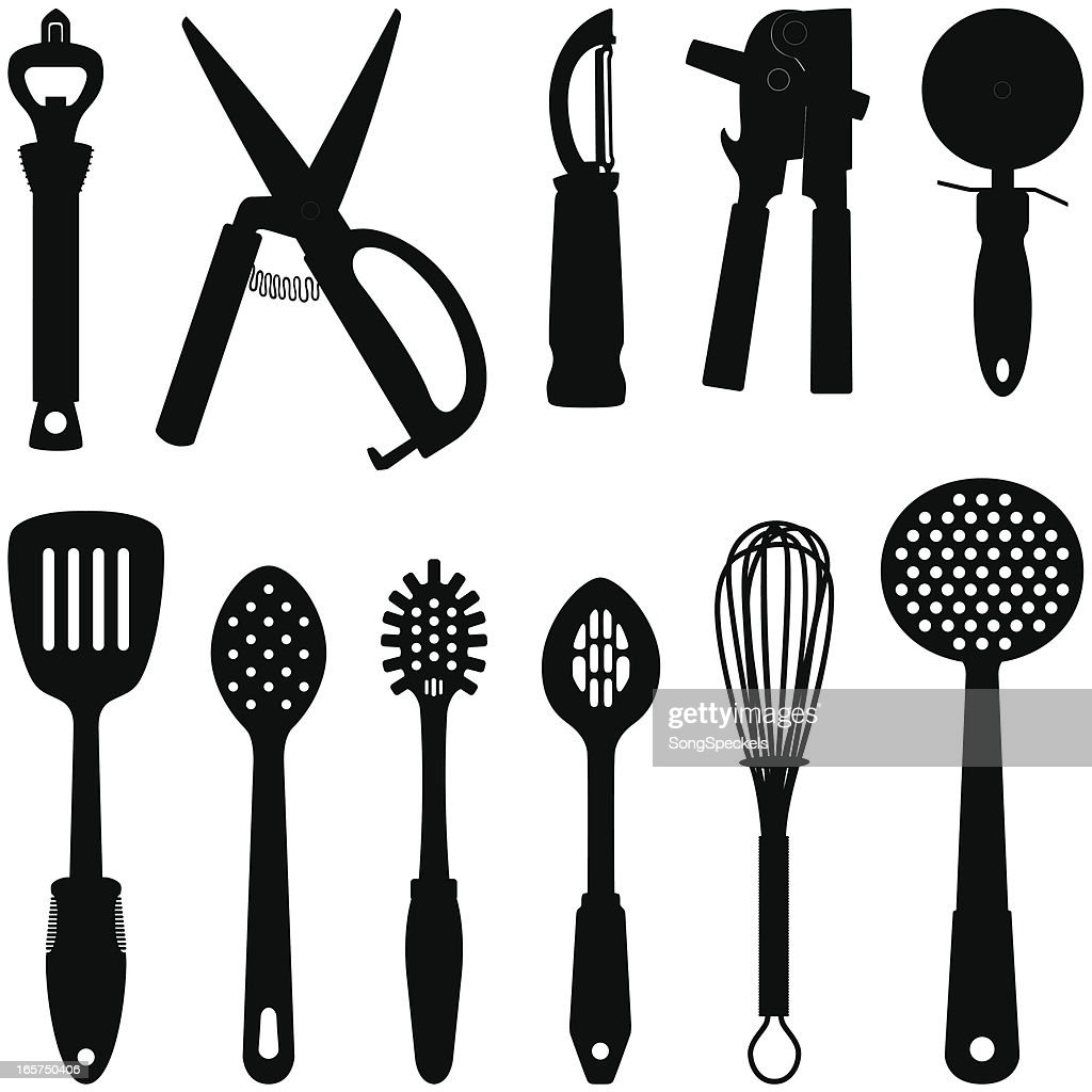 Kitchen Utensil Silhouettes Vector Art | Getty Images