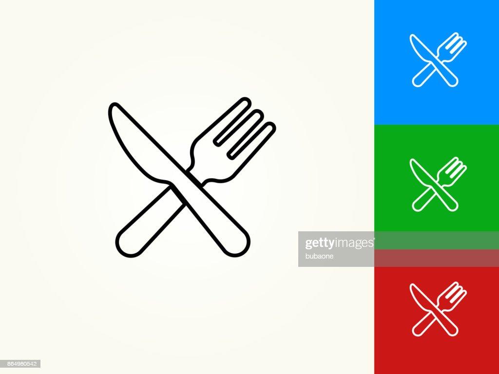 Keukengerei zwarte lijn lineaire pictogram : Stockillustraties