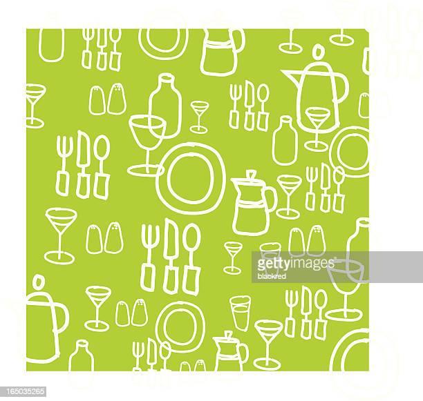 Kitchen Utensils Graphic Background