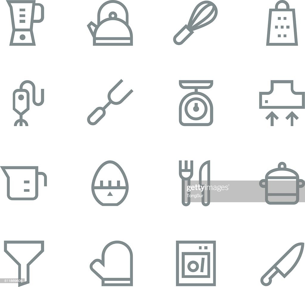 Kitchen utensils icons - line | set 1