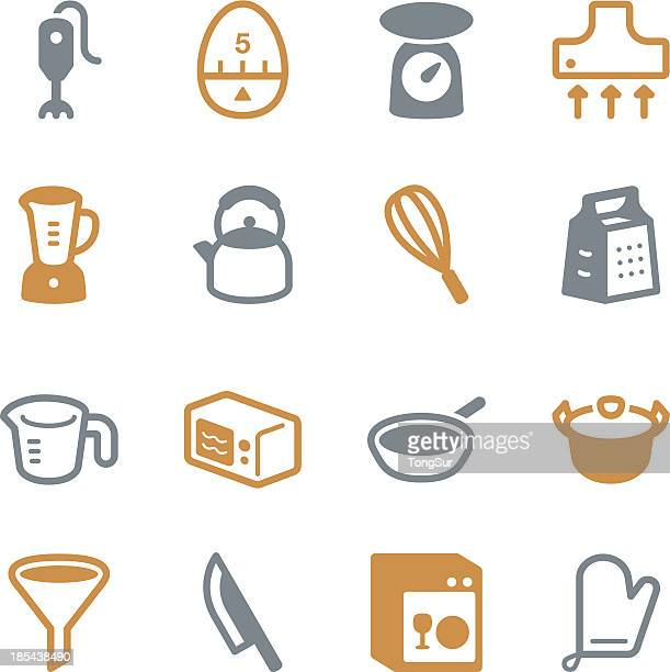 Kitchen Utensils Icons | set 1 - Color Series