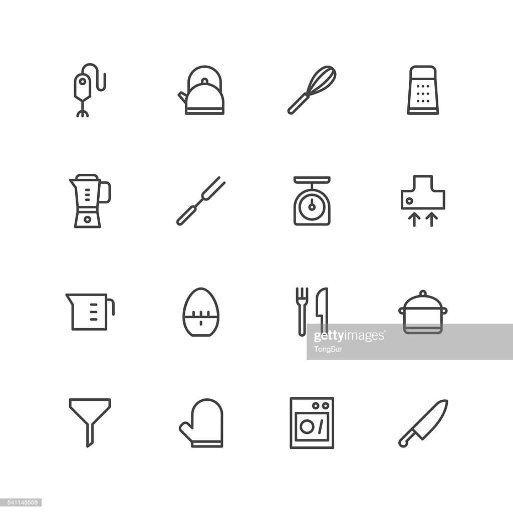 Kitchen utensils icons | set 1