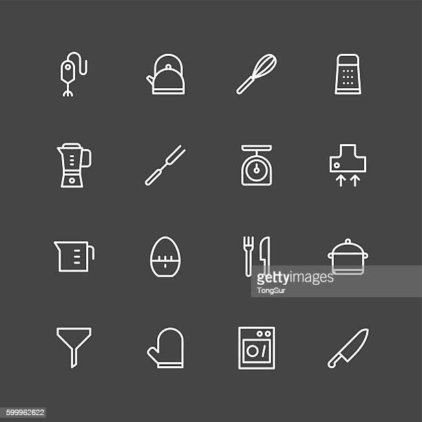 Kitchen utensils icons | set 1 - White Series