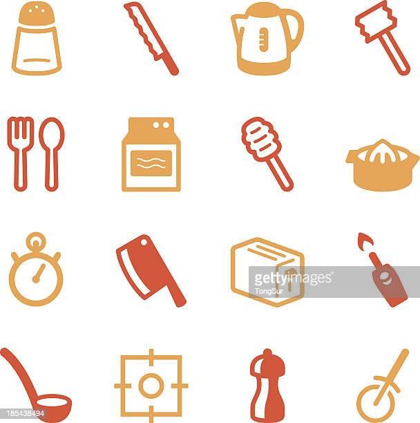 Kitchen Utensils Icons   set 2 - Color Series