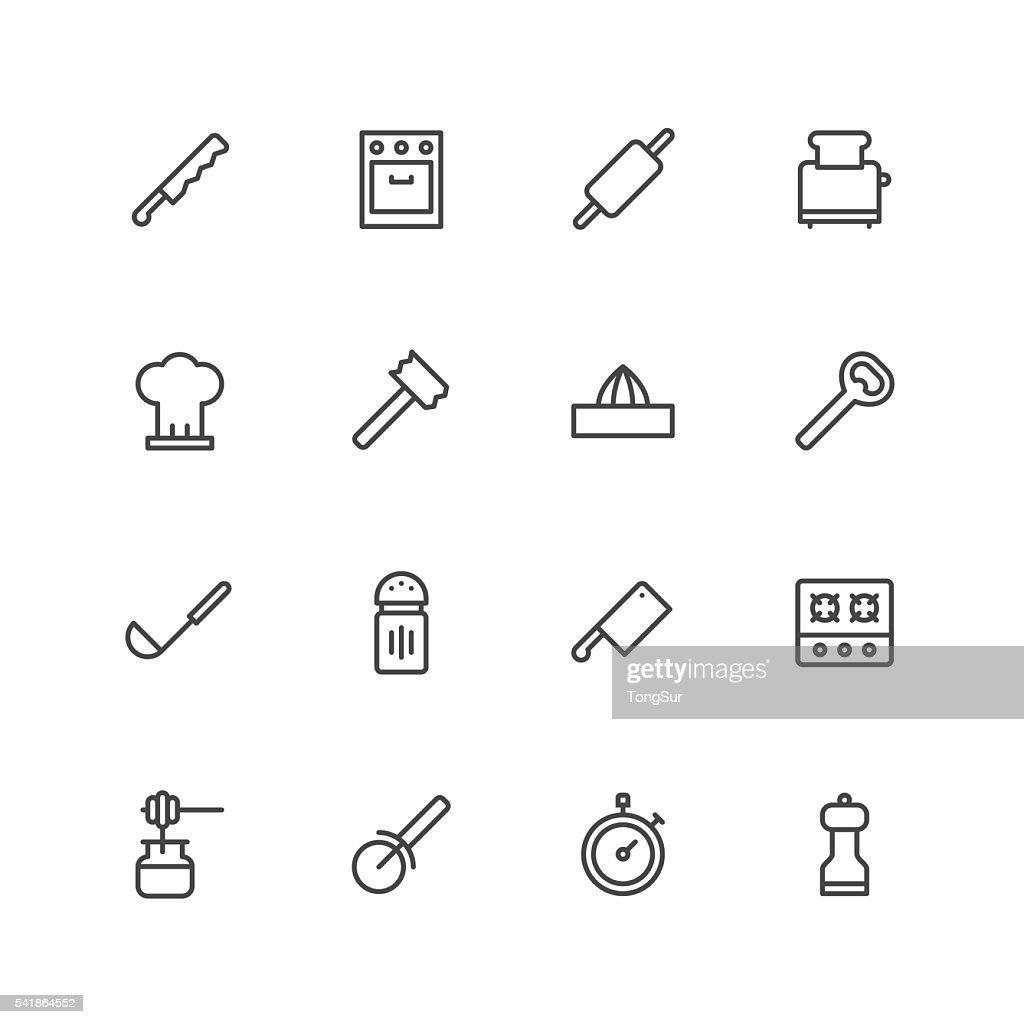 Kitchen utensils icons | set 2