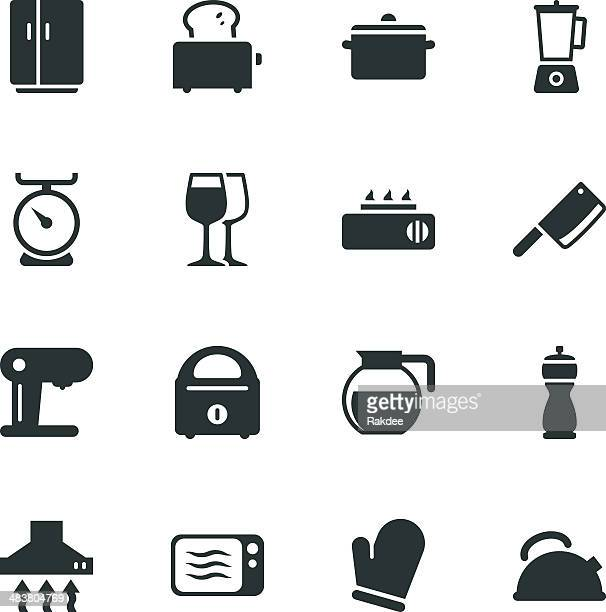 Kitchen Utensils Silhouette Icons