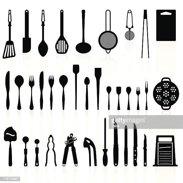 Cartoon Kitchen Tools ~ Kitchen utensil stock illustrations and cartoons getty