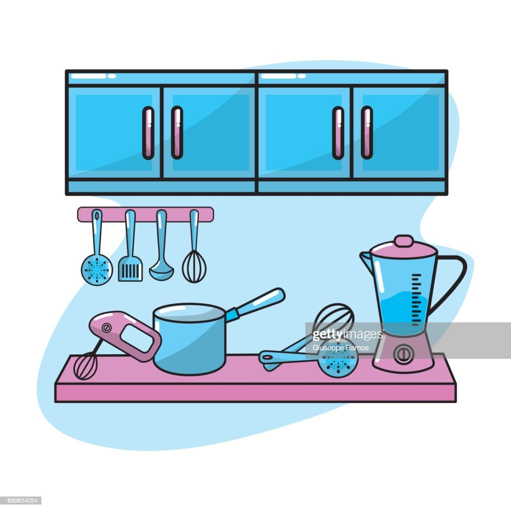 Kitchen Utensils Traditional Object Element Vector Art | Getty Images