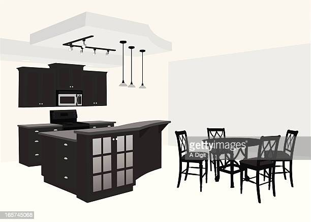 Kitchen'n Dining Vector Silhouette