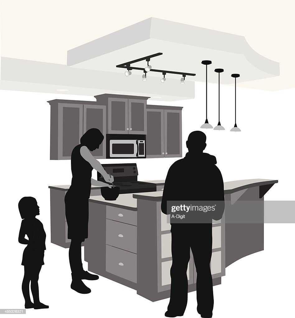 Kitchen'n Family Vector Silhouette