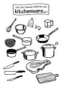 Kitchenware 1 -Line Drawing Collection-