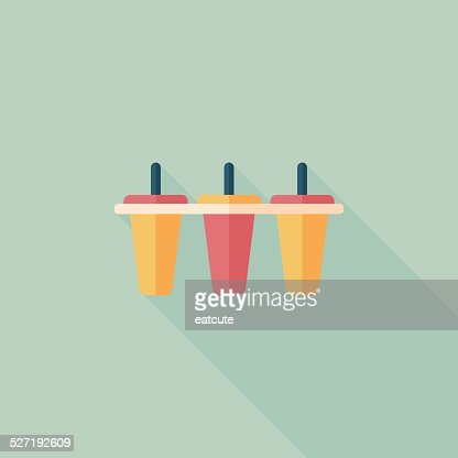 Kitchenware Ice Maker Flat Icon With Long Shadoweps10 Stock