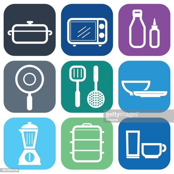 kitchenware icon - kitchenware department stock illustrations, clip art, cartoons, & icons