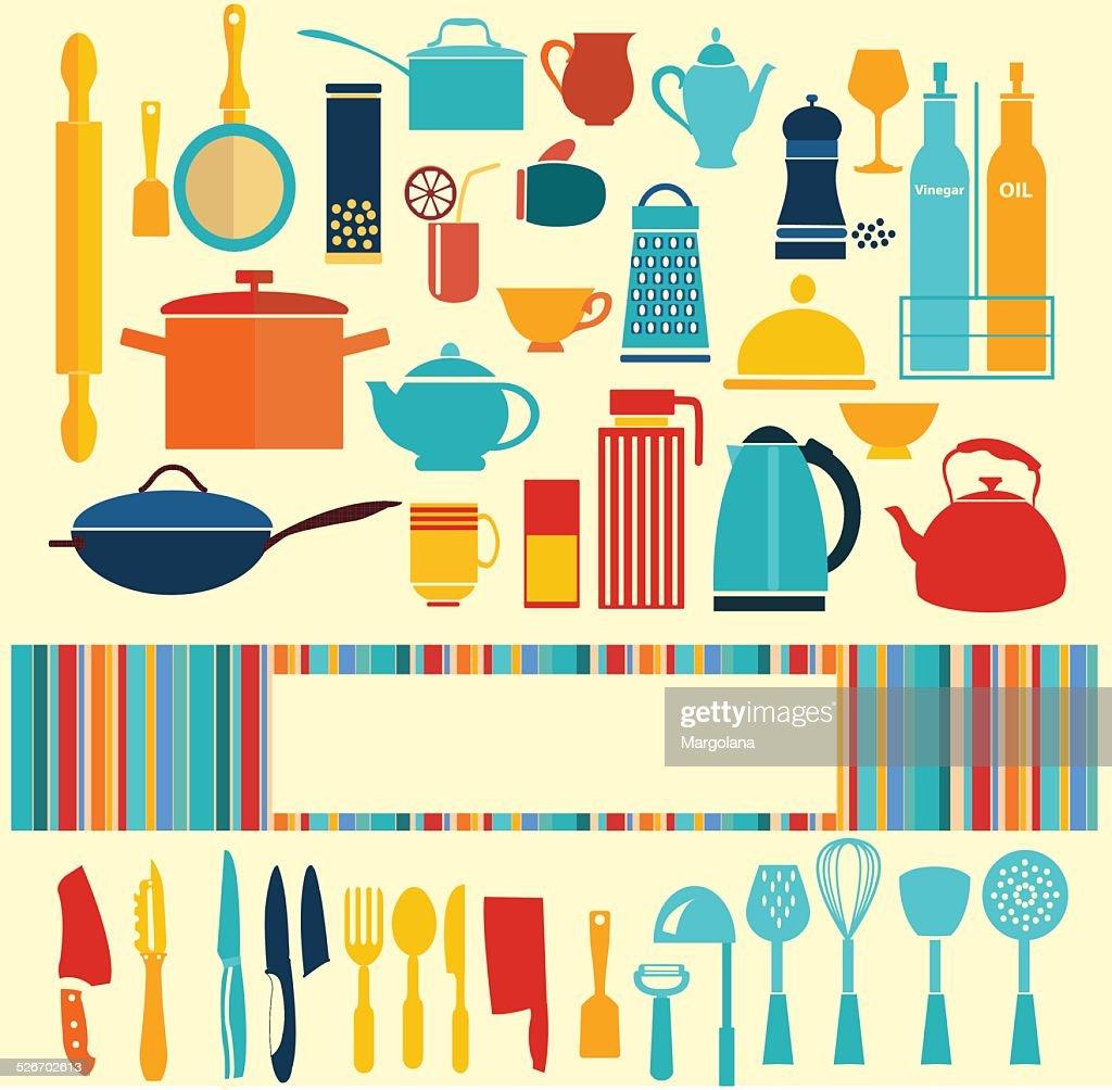 kitchenware set - background