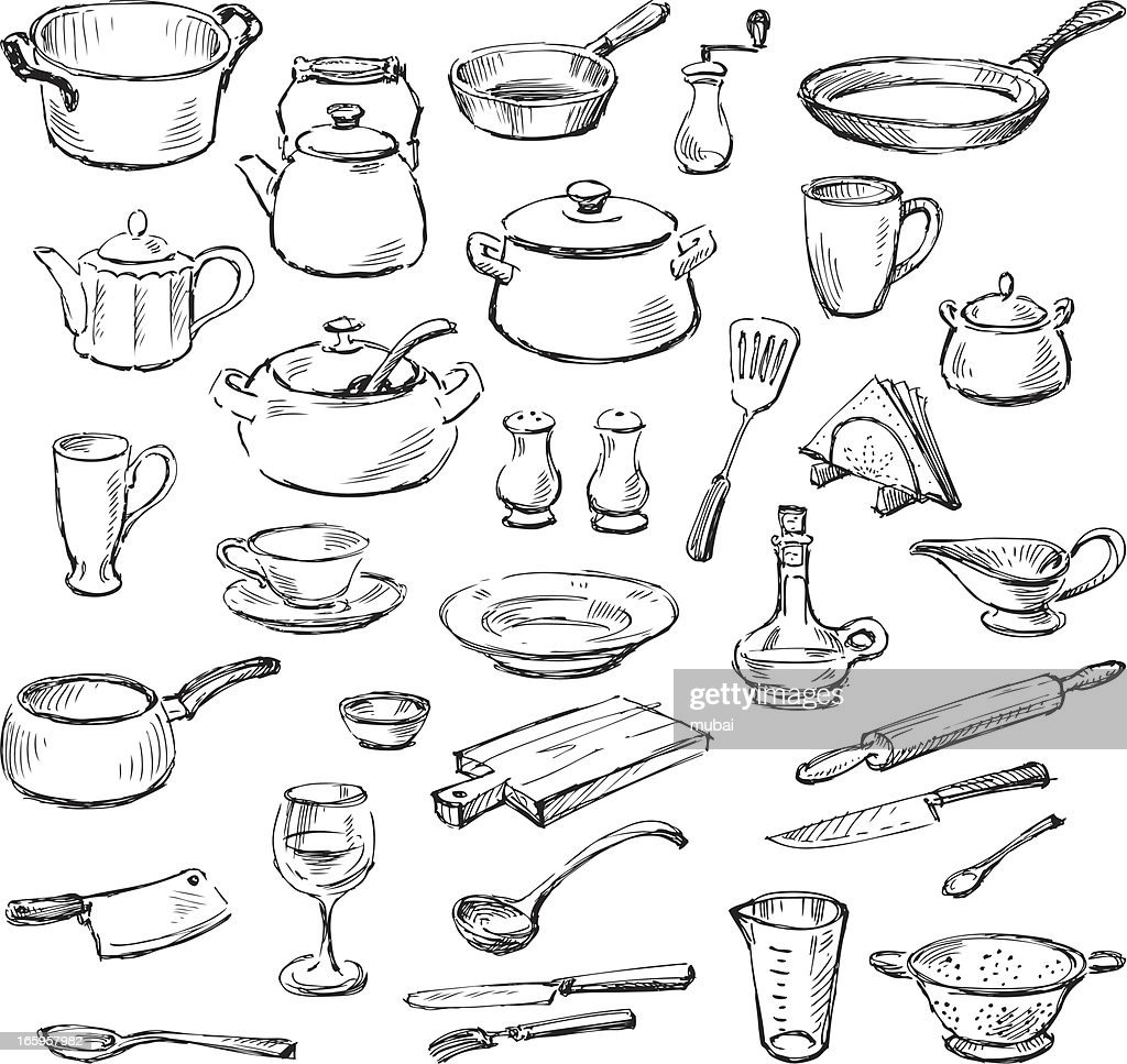 Ustensiles de cuisine clipart vectoriel getty images for Site ustensiles cuisine