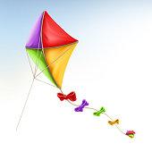 Kite, 3d vector icon