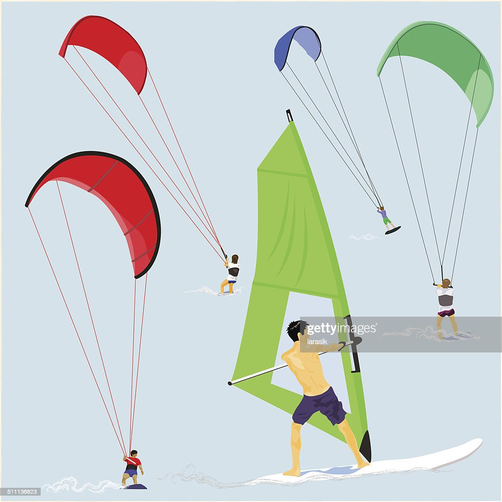 Kite and Wind Surfers