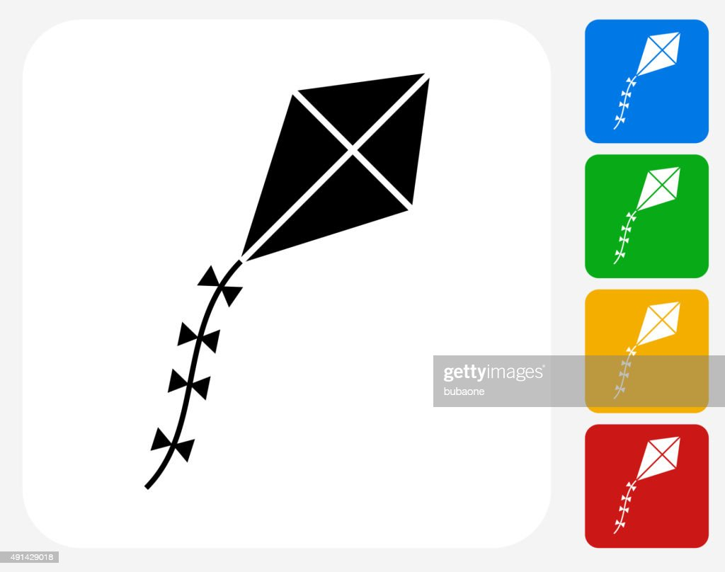 Kite Icon Flat Graphic Design