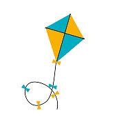 Kite  Icon. Vector Illustratio