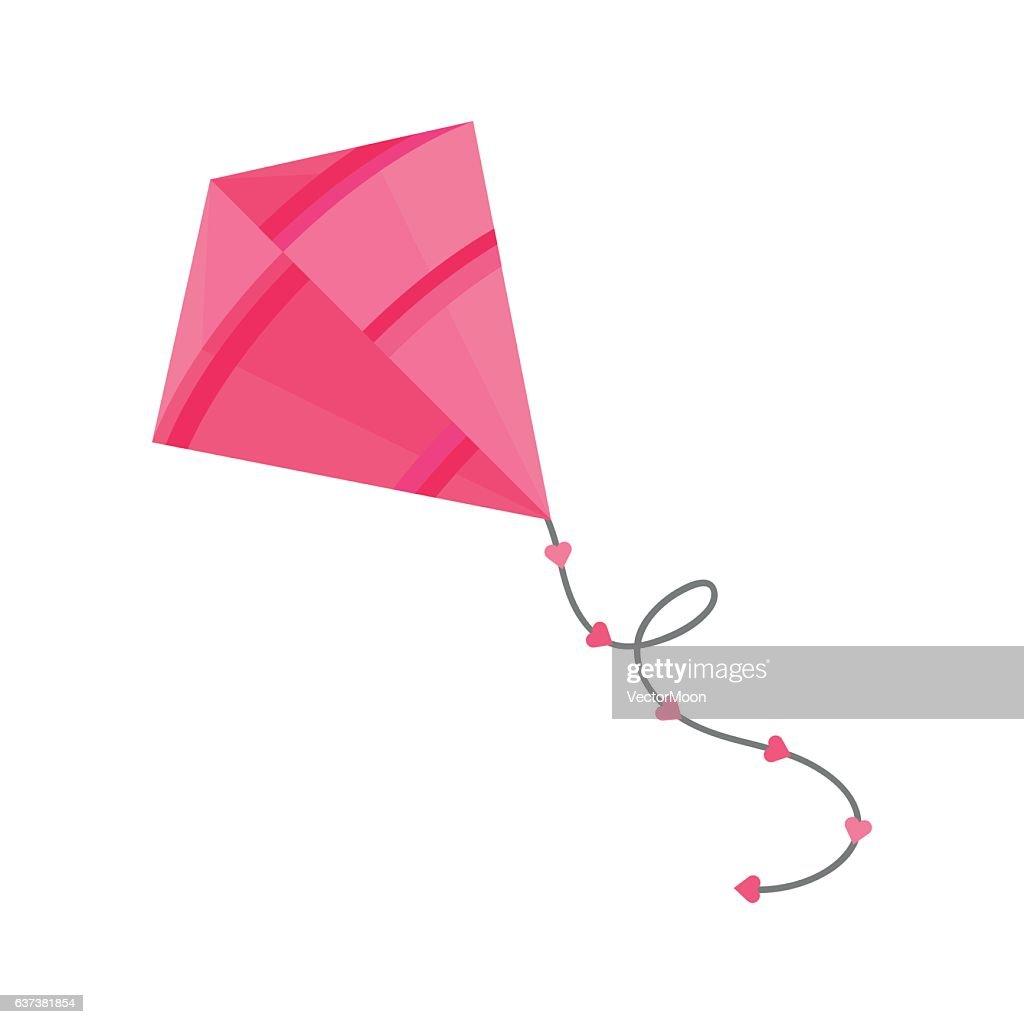Kite icon vector.