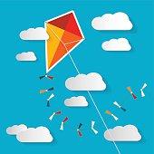 Kite on Blue Sky