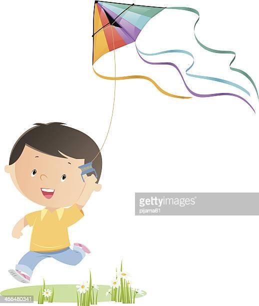 kite - kite toy stock illustrations, clip art, cartoons, & icons