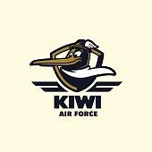 'Kiwi Air Force' t-shirt design